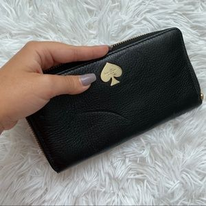 NWT⭐️ Kate Spade 100% Cow Leather Black Wallet